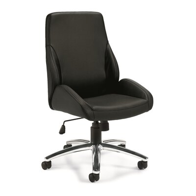 Offices To Go Mid-Back Leather Desk Chair