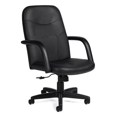 Offices To Go Luxhide High-Back Leather Pneumatic Tilter Managerial Chair