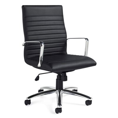 Offices To Go Luxhide High-Back Leather Pneumatic Tilter Executive Chair
