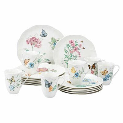 Lenox Butterfly Meadow 18 Piece Dinnerware Set Amp Reviews