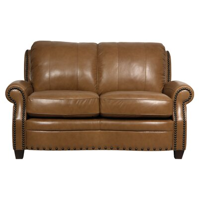 Darby Home Co Hubbard Leather Loveseat