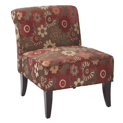 Ave Six Morgan Scarlet Merlot Naomi Slipper Chair