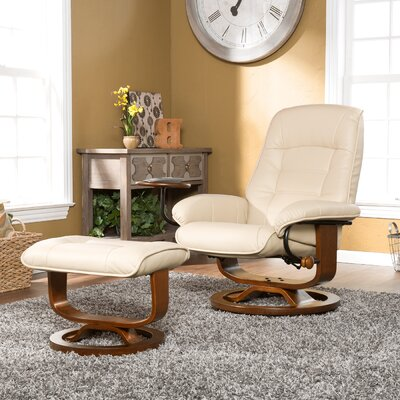 Wildon Home ® Shaw Ergonomic Recliner & Ottoma..