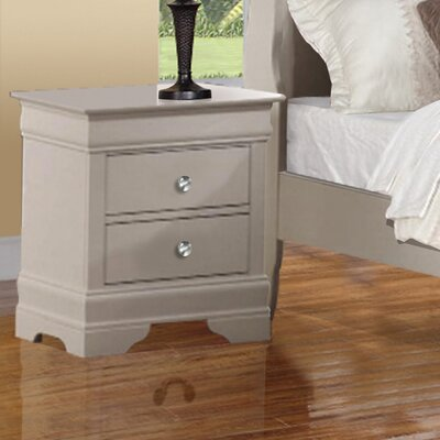 Wildon Home ® Louis Phillip 2 Drawer Nightstand