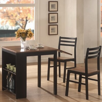 Wildon Home ® 3 Piece Dining Set with Drop Leaf