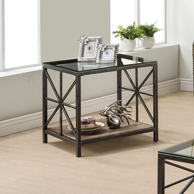 August Grove Washburn Weathered Grey End Table
