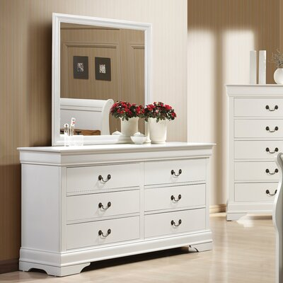 Wildon Home ® Louis Philip 6 Drawer Dresser wit..