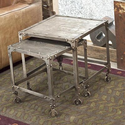 Wildon Home ® Industrial Steel Nesting Tables