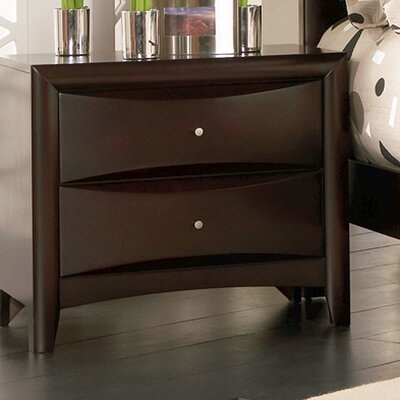 Wade Logan Wexford 2 Drawer Nightstand