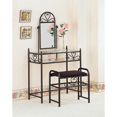 Wildon Home ® Bullhead City Vanity Set with Mir..