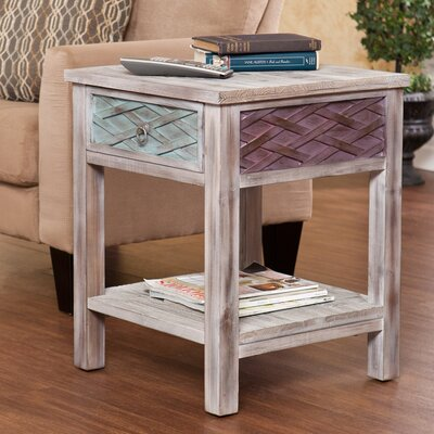 Bungalow Rose Sanjeev 1 Drawer End Table