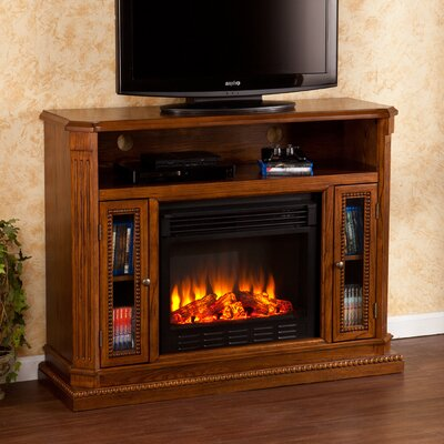 Wildon Home ® Delaney TV Stand with Electric Fi..