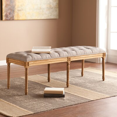 Lark Manor Ambre Upholstered Bedroom Bench