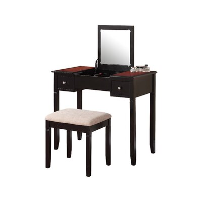 Linon Camden Vanity Set with Mirror Image