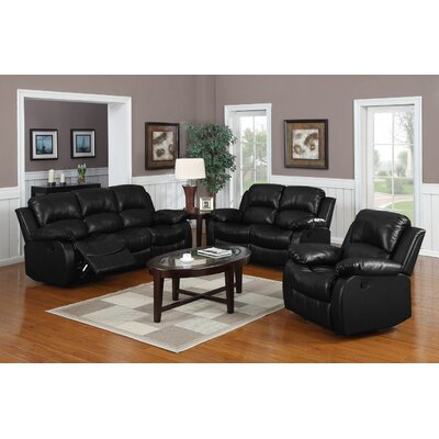 Wildon Home ® Montclair 3 Piece Reclining Living Room Set
