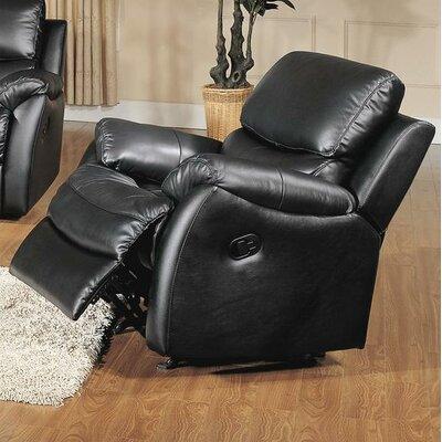 Wildon Home ® Brett Top Grain Leather Rocker Recliner