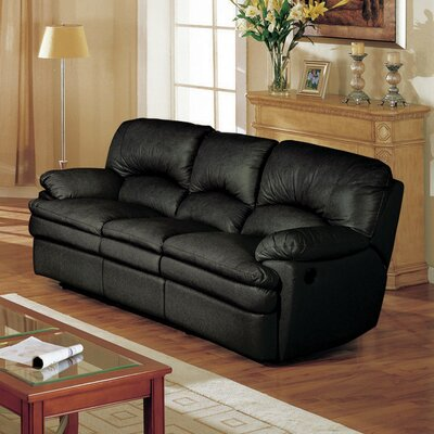 Wildon Home ® Haines Top Grain Leather Reclining Sofa