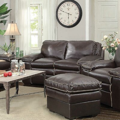 Wildon Home ® Leather Modular Loveseat
