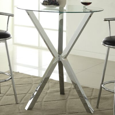 Wildon Home ® Pub Table in Chrome