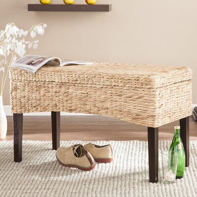 Beachcrest Home Norwich Hyacinth Storage Bedroom Bench