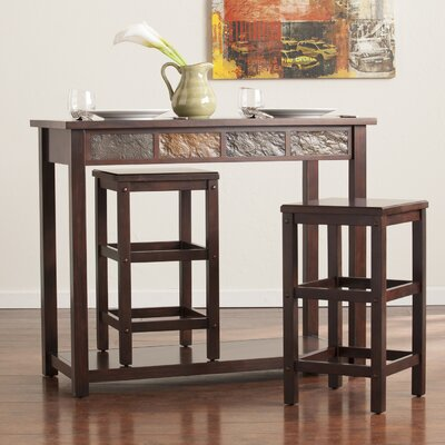 Loon Peak Wolfville 3 Piece Pub Table Set