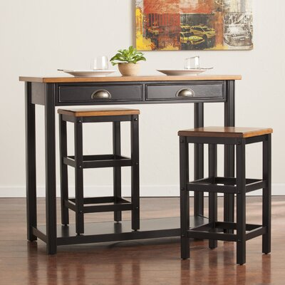 August Grove Carey 3 Piece Pub Table Set