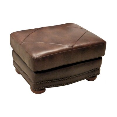 Wildon Home ® Leather Ottoman