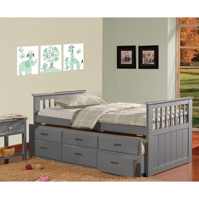 Wildon Home ® Brian Twin Captain Bed with 3 Drawers