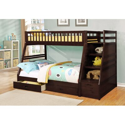 Wildon Home ® Dakota Twin over Full Bunk Bed with Storage