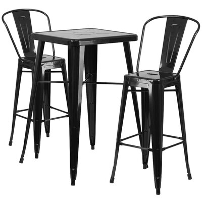 Wildon Home ® Fullmer 3 Piece Bar Table Set