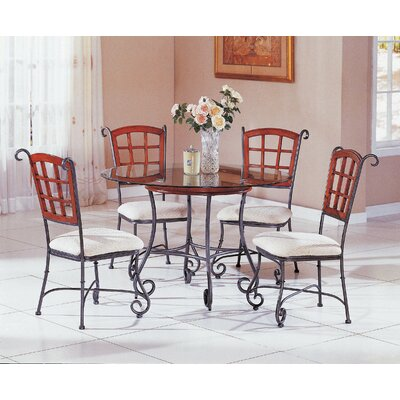 Wildon Home ? Champagne 5 Piece Dining Set