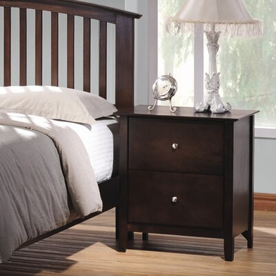 Darby Home Co Crimmins 2 Drawer Nightstand