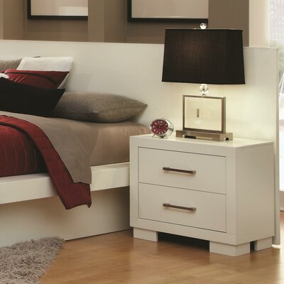 Wade Logan Laclubar 2 Drawer Nightstand