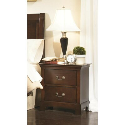 Rosalind Wheeler Akerman 2 Drawer Nightstand
