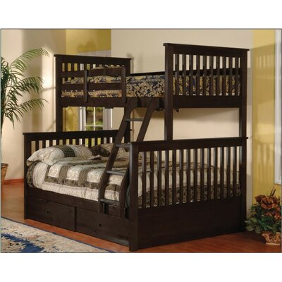 Wildon Home ® Twin over Full Bunk Bed with Stor..