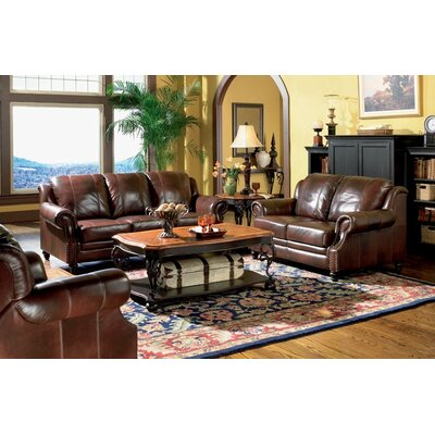 Wildon Home ® Harvard Leather Configurable Living Room Set ...