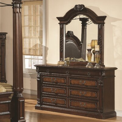 Wildon Home ® Juliet 9 Drawer Dresser with Mirror