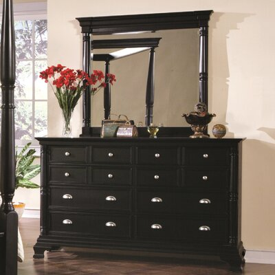 Wildon Home ® St. Regis 12 Drawer Dresser with Mirror