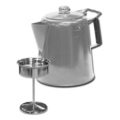 Coffee Maker Percolator Reviews : Stansport Stainless Steel Percolator Coffee Pot & Reviews Wayfair