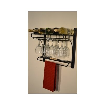 J & J Wire 5 Bottle Wall Mounted Wine Rack