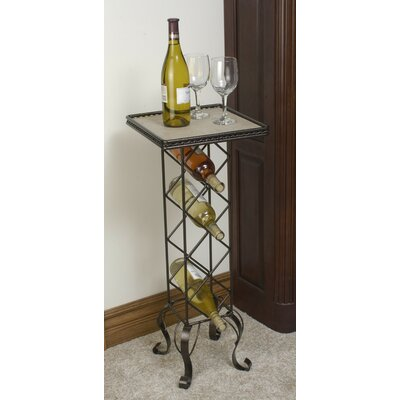 J & J Wire 4 Bottle Floor Wine Rack
