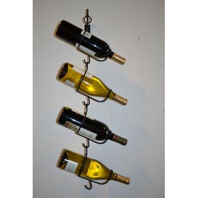 J & J Wire 4 Bottle Wall Mounted Wine Rack