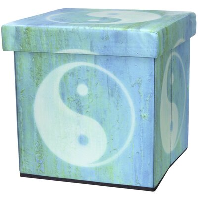 Oriental Furniture Yin Yang Storage Ottoman