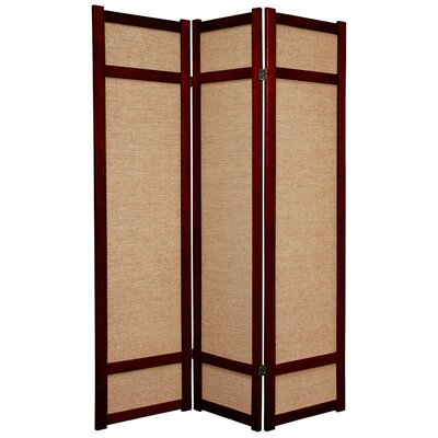 "Oriental Furniture 71"" x 42"" Jute Shoji 3 Panel Room"