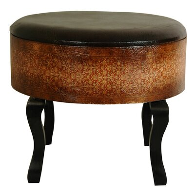 Oriental Furniture Olde-Worlde Vintage Ottoman