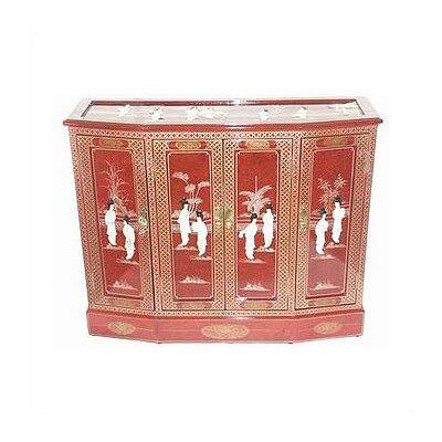 Oriental Furniture Asian Eight Ladies Sideboard