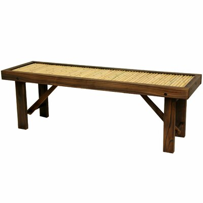 Oriental Furniture Japanese Bamboo Bench