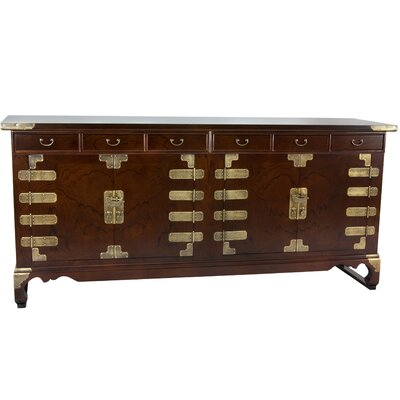 Oriental Furniture Korean Double Cabinet Credenza