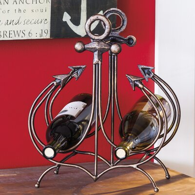 Evergreen Enterprises, Inc Anchor 2 Bottle Tabletop Wine Rack