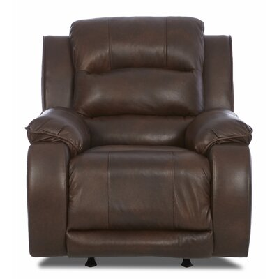 Klaussner Furniture Reuban Recliner with Headrest and Lumbar Support